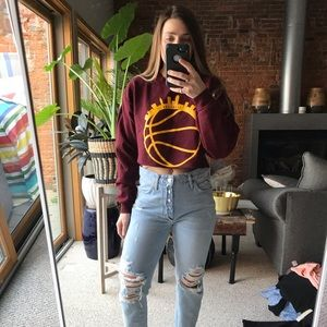 Cavs cropped sweatshirt sz small